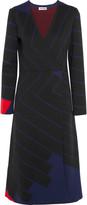 Jil Sander Striped stretch-knit wrap-effect dress
