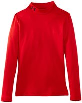 Under Armour Junior ColdGear Fitted Mock Neck Long Sleeve Compression Top