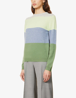 Peoples Republic of Cashmere Striped round-neck cashmere jumper