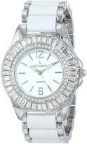 Peugeot Women's 7066S Crystal Accented Silver Tone Acrylic Link Watch