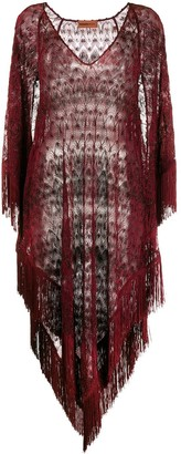Missoni Mare Sheer Fringed Beach Dress