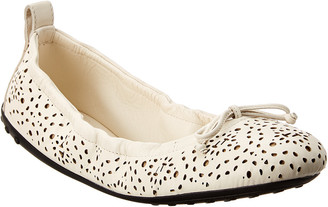 Tod's Gommino Studded Leather Ballerina Flat