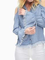 Splendid Indigo Cold Shoulder Shirt
