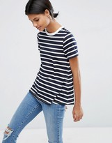 Asos Swing T-Shirt In Stripe