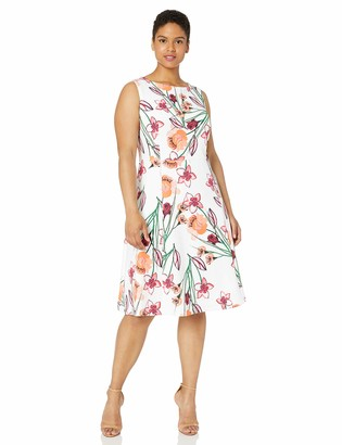 Calvin Klein Women's Size Printed Sleeveless Fit & Flare