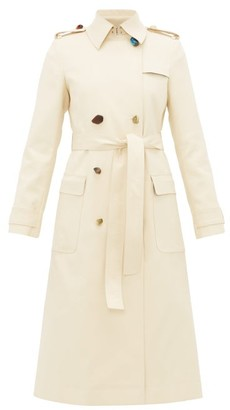 Altuzarra Alton Pebble-button Cotton-blend Trench Coat - Beige