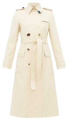 Altuzarra Alton Pebble-button Cotton-blend Trench Coat - Womens - Beige