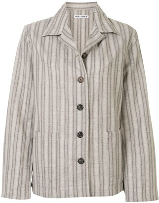 Our Legacy Striped Buttoned Jacket