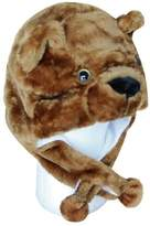 SWT Choose From Over 25 Animals! - Plush Faux Fur Animal Critter Hat Cap - Soft Warm Winter Headwear - Short with Ear Poms and Flaps & Long with Scarf and Mittens Available