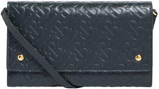 Burberry Leather Monogram Wallet Bag