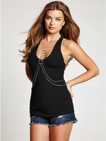 GUESS Silver-Tone Layered Body Chain