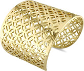 Catherine Malandrino 18K Gold-Plated Sterling Silver Lattice Wide Cuff Bracelet