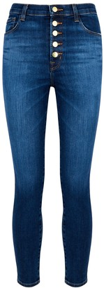 J Brand Lillie Dark Blue Skinny Jeans