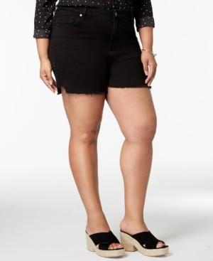 Seven7 Jeans Seven7 Trendy Plus Size Studded Denim Shorts