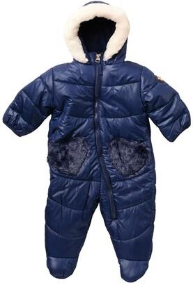 Jessica Simpson Faux Fur Trim Snowsuit