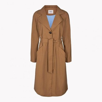 Msch - Dark Tan Cotton Angela Trench Coat - L-14