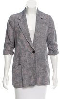 Elizabeth and James Linen Abstract Blazer