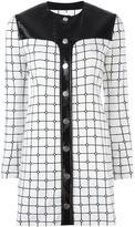 Courreges grid print dress