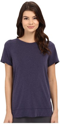 Yummie by Heather Thomson Women's Crew Neck Open Back Short Sleeve Cover Up Tee
