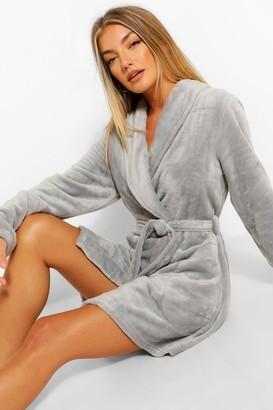 boohoo Basic Short dressing gown