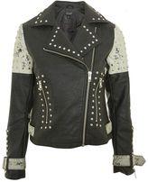 Topshop Maddox Faux Leather Biker Jacket