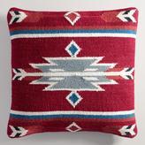 Red Wool Kilim Throw Pillow