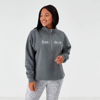 Nike Women's Sportswear Shine Half-Zip Fleece Top (Plus Size)