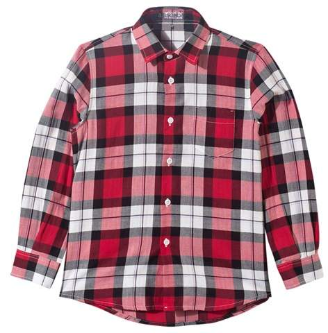 Il Gufo Red Tartan Check Shirt