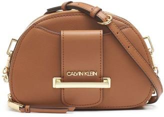Calvin Klein Women's Crossbodies CARAMEL - Chained Daytonna Top Zip Crossbody
