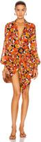 Dodo Bar Or Lora Dress in Flower 4 Orange Brown | FWRD