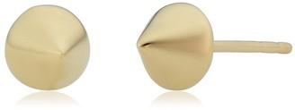 Fremada 14k Yellow Gold Cone Spike Stud Earrings
