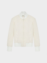DKNY Coated Bomber Jacket With Rib Trims