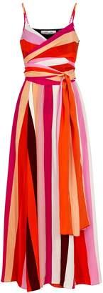 Diane von Furstenberg Azalea Striped Silk Maxi Dress
