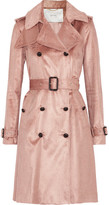 ADAM by Adam Lippes Cotton-blend Corduroy Trench Coat - Antique rose