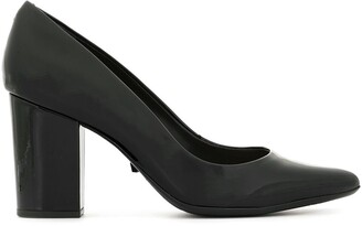 Schutz patent chunky heel pumps