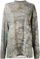 Yeezy camouflage leaf print sweatshirt - women - Cotton - L