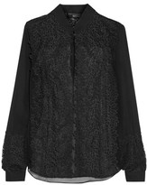 Sachin + Babi Lex Paneled Guipure Lace And Silk-Georgette Shirt