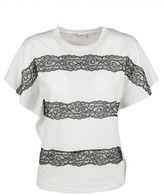 RED Valentino Lace-up Detailing T-shirt