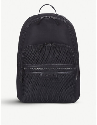 Tiba & Marl Francis mesh nylon backpack, Black