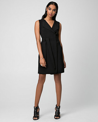 Le Château Woven Belted Trench Dress