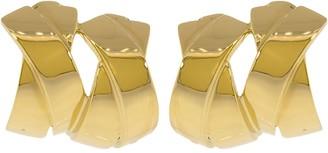 Verdura Double X Clip Earrings