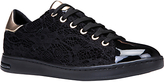 Geox Jaysen Breathable Lace Up Trainers, Black