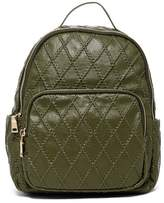 Urban Expressions Mae Quilted Vegan Leather Mid Backpack