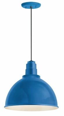 "Troy RLM 1-Light Dome Pendant Troy RLM Finish: Blue, Size: 14"" H x 16"" W x 16"" D"