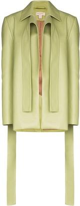 MATÉRIEL Draped Detail Blazer Jacket