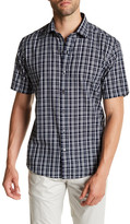 Zachary Prell Carson Short Sleeve Plaid Trim Fit Shirt