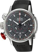 Edox Men's 10302 3 GR3 Chronorally Analog Display Swiss Quartz Watch