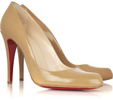 Christian Louboutin Décolleté 100 Leather Pumps - Sand
