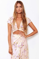 Flynn Skye That's A Wrap Crop Top Flutter in Lavender Skye