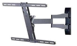 "VCM TV Wall Mount Bracket Support with Soundbar Holder 26-70"" LED LCD Plasma Tilt Swivel silver/aluminum SBW300"